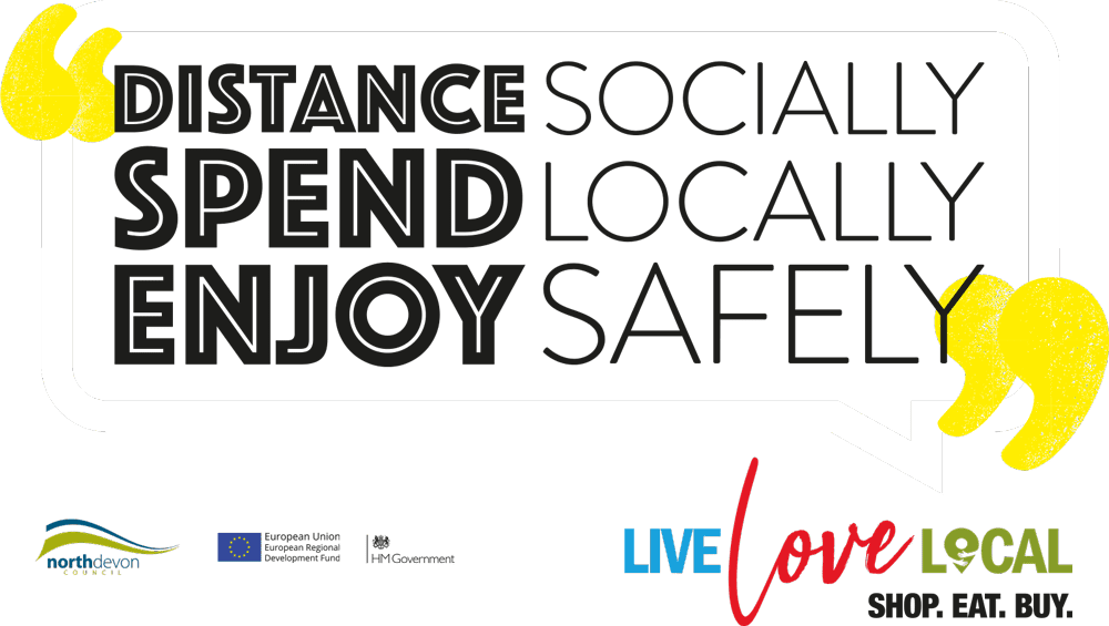 Distance socially, spend locally, enjoy safely